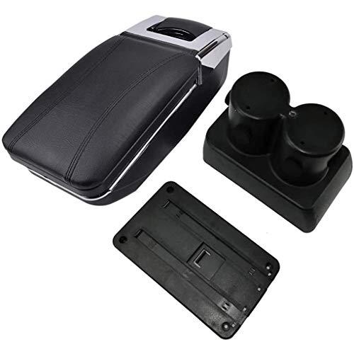 QYHL Caja De Almacenamiento Reposabrazos Consola Central Coche para Jimny 2000-2017, Asiento Cuero Impermeable, con Contenido De Interfaz USB+Portavasos, con Accesorios Estilo DecoracióN Interior