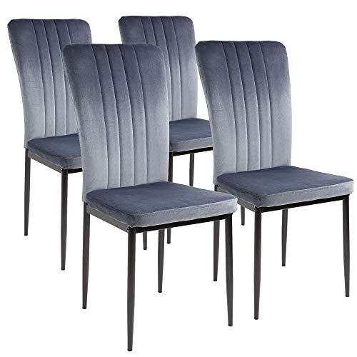 Albatros Esszimmerstühle Modena, 4er Set, Grau, SGS getestet