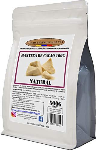 Cacao Venezuela Delta · Manteca De Cacao 100% · Natural · 500g - Calidad Extra