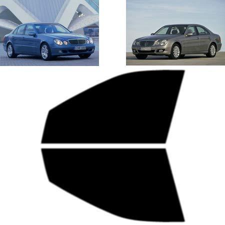 Láminas Solares para Tintar Las Lunas del Coche-Mercedes E Class W211 4-Puertas Sedán 2003-2009 Ventanas Laterales Delanteras (50% Ahumado Claro)