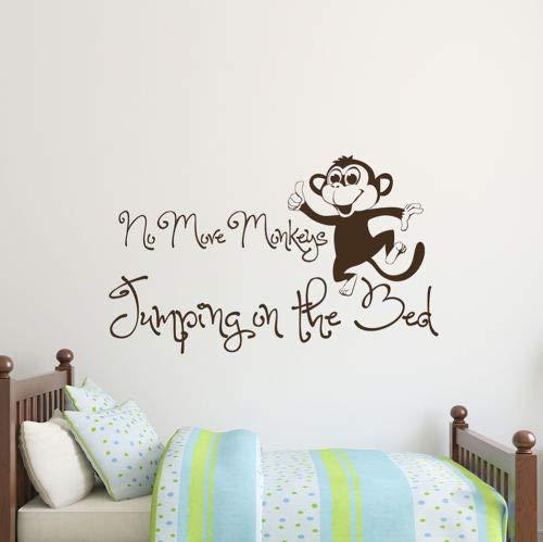 Stickers muraux en vinyle pour chambre d'enfant Motif « No More Singes »
