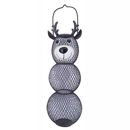 Creative Steel Wire Bird Feeder Outdoor Balcony Hanging Feeder Wrought Iron Deer Snowman Bear Shape Crafts Ornaments Pet Feeding Supplies