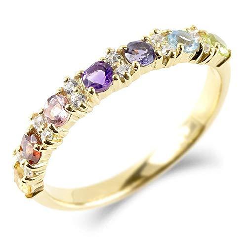 [アトラス]Atrus リング レディース 10金 イエローゴールドk10 婚約指輪 アミュレット キュービックジルコニア エンゲージリング 指輪 6号