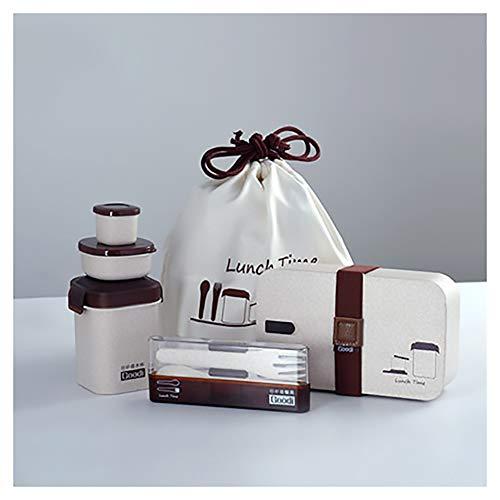 YILANS Bento Box, Lunch Bento Box, Fiambrera De Fibra De Arroz, Horno Microondas, Calefacción,...