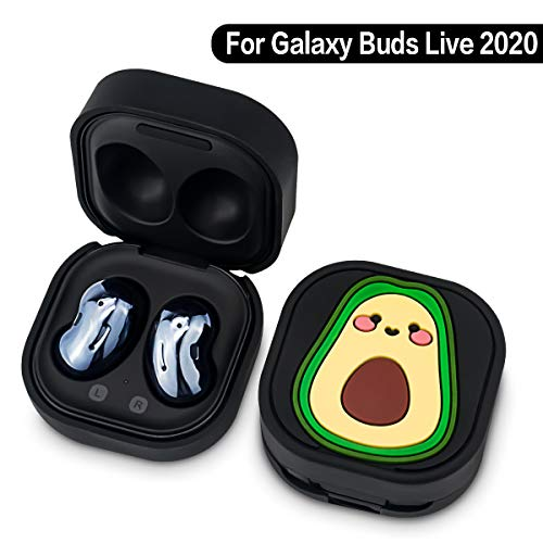 Galaxy Buds Live Case Cover (2020), Silicone Cute Cartoon Character Case Game Designed for Samsung Galaxy Buds Live Charging Case - Avocado
