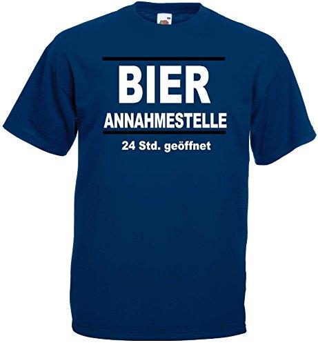 world-of-shirt Herren T-Shirt Bier Annahmestelle 24std geöffnet