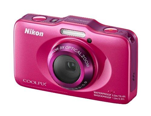 Nikon Coolpix S31 Digitalkamera (10 Megapixel, 3-fach opt. Zoom, 6,9 cm (2,7 Zoll) LCD-Display, bis 5m wasserdicht) pink