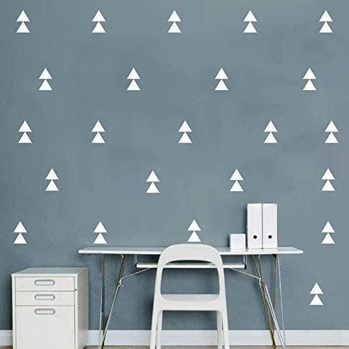 120 Pcs Set Triangle Wall Pattern Decal Vinyl Stickers for Kids Boy Girl Baby Bedroom Playroom product image