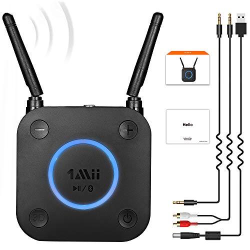 1Mii Receptor Bluetooth 5.0, Adaptador de Audio con Control