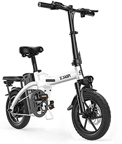Bicicleta electrica Bicicletas eléctricas rápidas para Adultos Bicicleta eléctrica para Adultos 48V COMPUTIR Urbano Doblado Ebike Doblado Bicicleta eléctrica Velocidad máxima 25 km/h Capacidad de ca