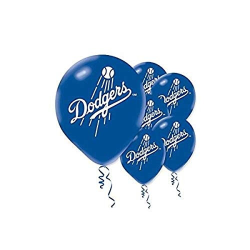 'Los Angeles Dodgers Major League Baseball Collection' Printed Latex Balloons, Party Decoration