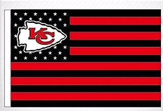 NFL Kansas City Chiefs Stars and Stripes Flag Banner - 3X5 FT - USA FLAG