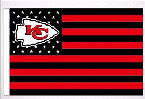 Kansas City Chiefs Stars and Stripes NFL Flag Banner - 3X5 FT - USA Flag