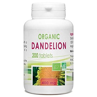 Organic Dandelion Root - 400 mg - 200 Tablets