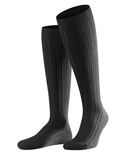 FALKE Herren Kniestrümpfe Teppich im Schuh - Merinowollmischung, 1 Paar, Schwarz (Black 3000), Größe: 45-46
