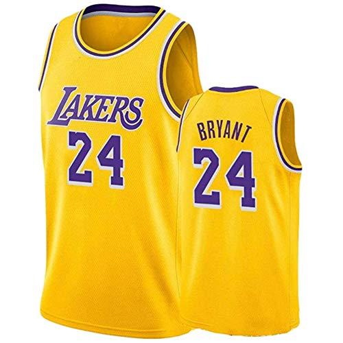 FYPARF Camiseta De Baloncesto para Hombres # 24 Camiseta De Kobe Bryant Lakers Camiseta Sin Mangas Unisex De Malla Bordada Camiseta De Baloncesto Swingman Top Chalecos Sin Mangas Bordados (B,XL)