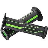 デイトナ バイク用 ハンドル グリップ 125mm φ22.2 グリーン エンド貫通 グリッピーグリップ GG-D-LINE 98447