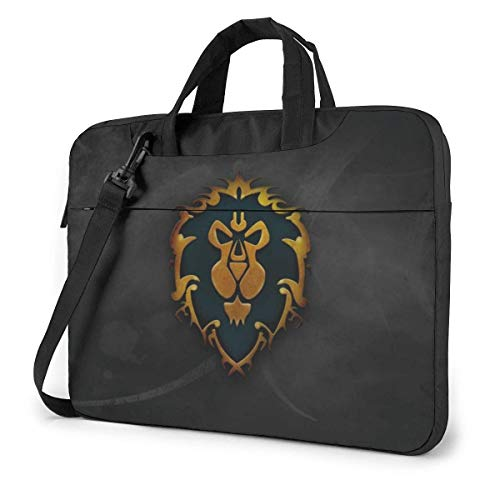 World Warcraft Alliance Laptop Sleeve Laptop Bag Tablet Briefcase Ultraportable Protective Handbag Oxford Cloth-for MacBook Pro/MacBook Air/Notebook Computer 13 Inch