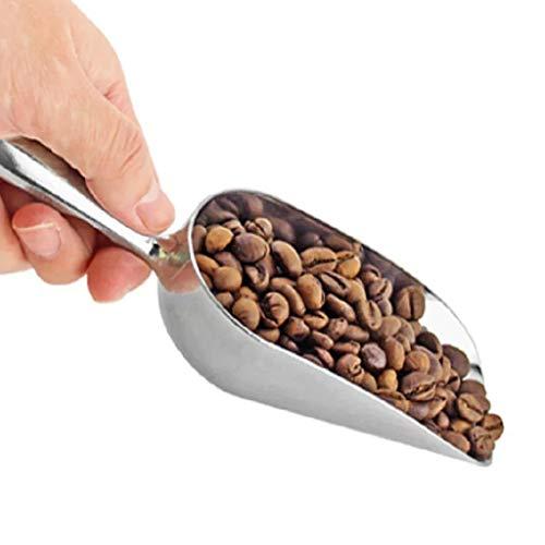 Ogquaton Edelstahl-Eisschaufel für Zuckermehlbuffet Bar-Werkzeuge für trockene Körner Messschaufel Stilvoll und praktisch