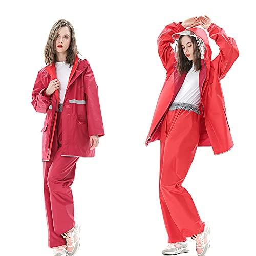 ZDSKSH Abrigos Y Pantalones Impermeables Para Hombre O Mujer, Chubasquero Reflectante Con Capucha, Windbreaker Impermeable, Con Bolsa De Almacenamiento