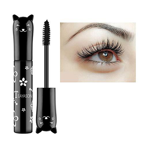 Dinglong 6 couleurs de maquillage imperméable à l'eau cils longs curling mascara extension de cils (Noir)
