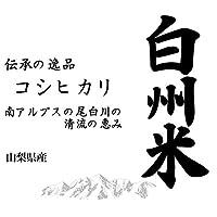 【玄米】山梨県産 日本名水100選 玄米 白州米 こしひかり 10kgx1袋 令和2年産 新米