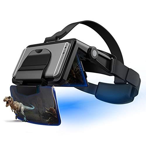 WYW Gafas VR de Realidad Virtual,Portátil y Plegable,para Juegos Visión Panorámico Immersivo,Adecuado para Pantalla de teléfono Inteligente de 4.7-6.3 Pulgadas