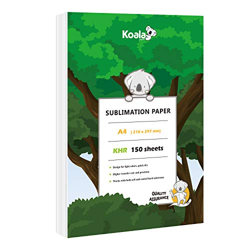 Koala 150 sheets Sublimation Paper 11X17 Inches for Heat Transfer DIY gift compatible with Inkjet Printer with Sublimation Ink