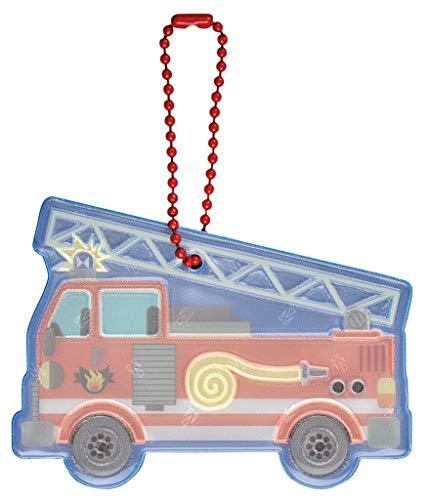 moses. Jungen Glimmis Reflektor Feuerwehrauto | Beidseitig reflektierend Anhänger, bunt, Einheitsgröße