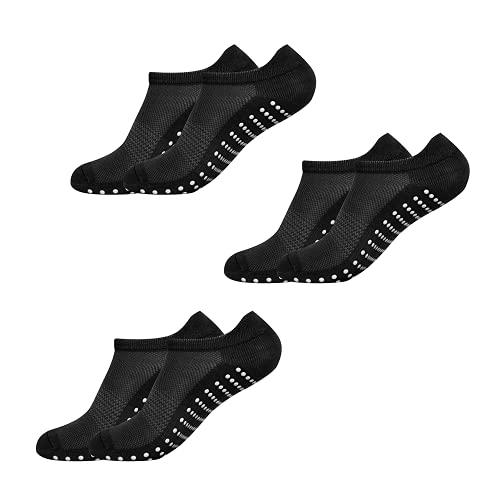 x3 Packung Pilates Socken, Yoga Socken - Martial Arts, Fitness, Zumba, Tanz - Anti-Rutsch - Full Toe Sports Socken - Unisex mit Grip, EU 38-44 - Von ATA®