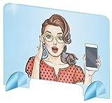 protezione plexi in vetro acrilico – parete di protezione trasparente in plexi – pannelli in plexi incolore (50 x 50 cm)