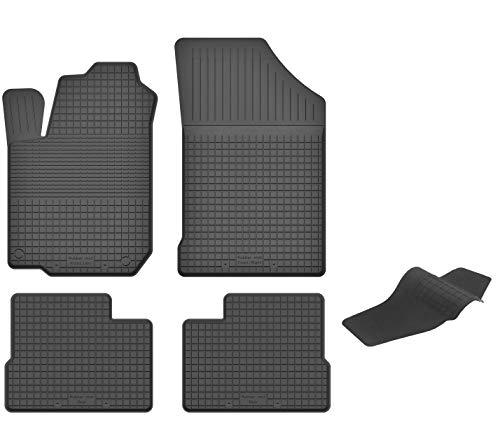 KO-RUBBERMAT Gummimatten mit Tunnel geeignet zur Hyundai i10 II (Bj. 2013-2018) ideal angepasst 5-Teile EIN Set