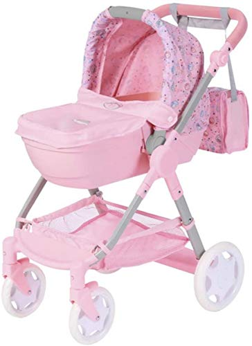 Zapf Creation 826386 Born Baby Evolve 6 en 1 Cochecito para muñecas, multicolor