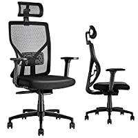 Thanks to this state-of-the-art office chair's numerous adjustable features you can be assured of finding a comfortable seating position just for you. You can adjust the headrest height and angle; the lumbar support height; the armrest height, direct...