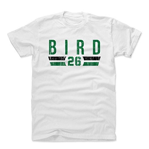 500 LEVEL Jabari Bird Cotton Shirt Medium White - Boston Basketball Men's Apparel - Jabari Bird Boston Font G