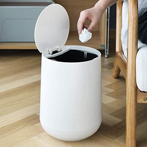 Zoharm Japón Papelera de plástico para papel de basura, cubo de basura redondo