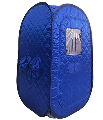 ZONEMEL Portable Steam Sauna, Lightweight Folding Tent, Personal Steam Sauna SPA for Weight Loss Detox Therapy, Steamer NOT Included-Blue