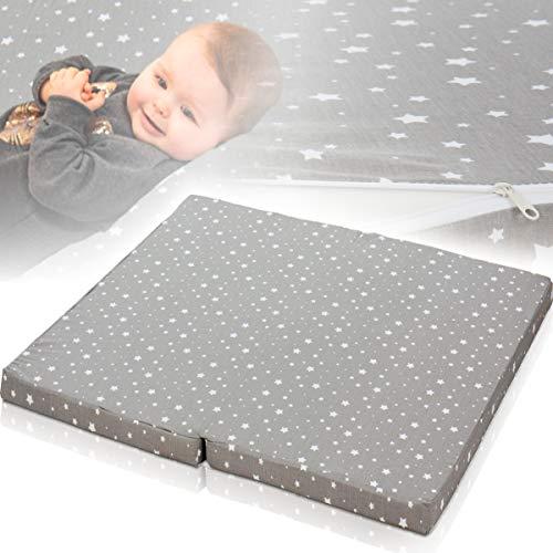 Matratze für Laufstall Laufgitter Baby (100 x 90 cm) 100{51bc09b51c4fa2466185c557dec5e1d5dd5aba278320b3c21f1c2c0919c1cdd9} Baumwolle
