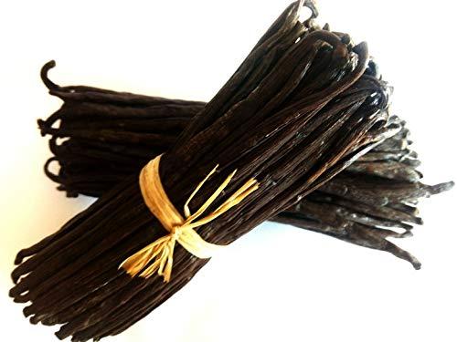 Vaniglia Bourbon del Madagascar - alta qualità - da 14 a 18 cm -9 bellissimi baccelli carnosi bio + 1baccelli GRATIS