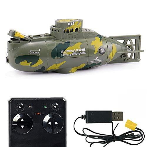 Yxp 6-Kanal wasserdichte Mini RC U-Boot Ferngesteuertes Boot Spielzeug Für Kinder Und Erwachsene,Grün