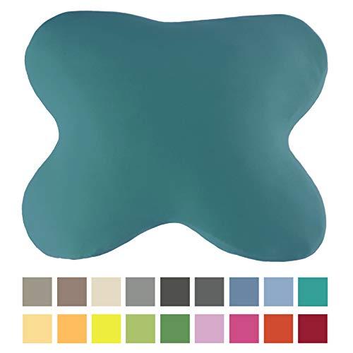 EddaLux Bezug für ACAMAR Seitenschläfer-Kissen und für LUXAMEL Bauchschläfer-Kissen | Schmetterlingskissen | Hochwertiger Jersey-Kissenbezug | 100% Baumwolle | mit Reißverschluss | in vielen Farben