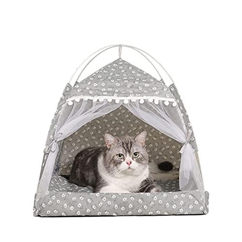 YYID Tienda para Gatos, Cama para Perros Pequeños, Cama para Mascotas, Tienda para Mascotas Duradera Plegable Portátil De 38 38 38 Cm, Tienda para Perros De Viaje En Interiores Y Exteriores