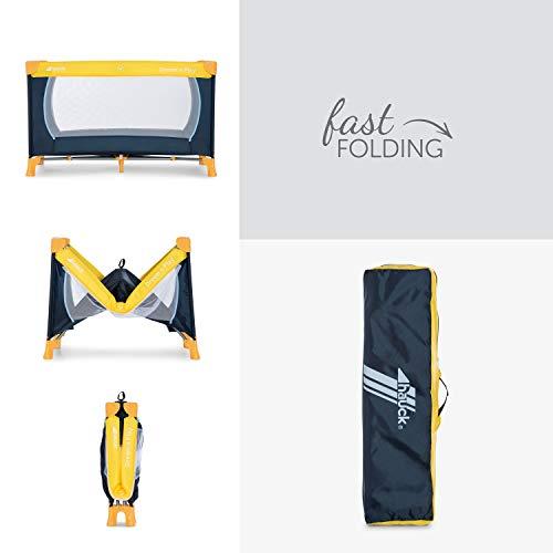 Hauck Kinderreisebett Dream N Play / inklusive Einlageboden und Tasche / 120 x 60cm / ab Geburt / tragbar und faltbar, Mehrfarbig - 4