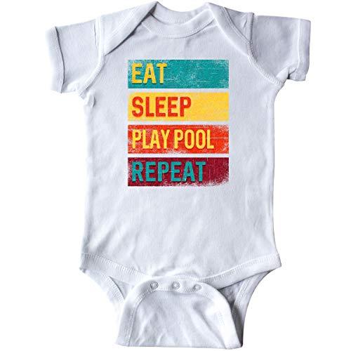 inktastic Billiards Eat Sleep Play Pool Infant Creeper 12 Months White 33c04
