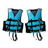 SM SunniMix 2X Chaleco Kayak Barco Natación Pesca Flotabilidad Ayuda Chaleco XL Tamaño Azul