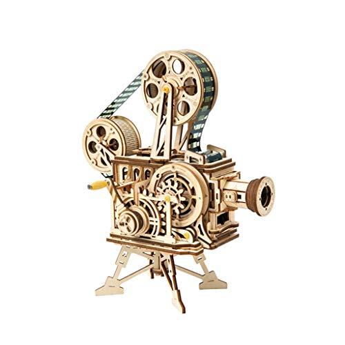 Puzzles Spielzeug Vintage-Projektor DIY Handarbeit aus Holz Dreidimensionales Kreativ Graduate Day Geschenk Männlich Dekoration Brainteaser