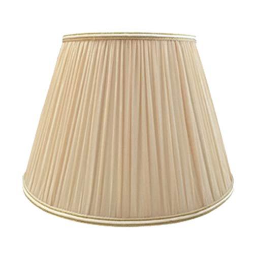FABDB E27 Lampenschirm für Tischleuchte in Rund Plissee, 100% Reine Hand Lampe Lampenschirm Nachttischlampe Tischlampe Stehlampe Lampenschirm Tuch, Stoff (Spinne. 15CM-45CM),Apricot,15CM×22CM