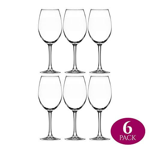 Modvera Stemmed Wine Glass 16 Ounce | Lead Free Crystal Clear Classic Design | Perfect for Red Wines...