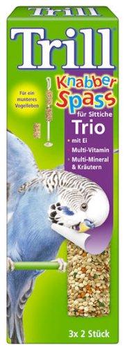 Trill Knabber Spaß für Sittiche Trio mit Ei, Multi-Vitamin, Multi-Mineral und Kräutern 14x6 Stück