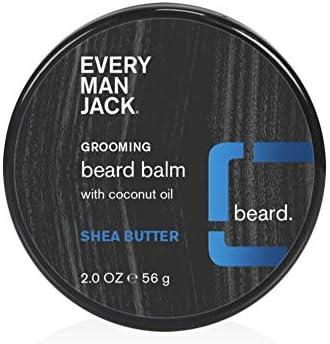 Every Man Jack Beard Balm Shea Butter 2 ounce 1 Jar Naturally Derived Parabens free Pthalate product image